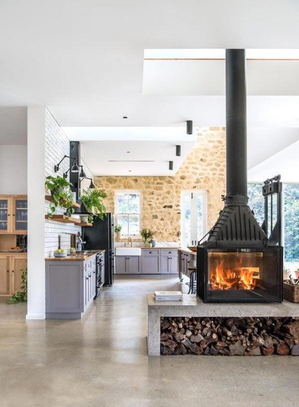 Cheminees Philippe Radiante 846 2V - Tuscan Villa Adelaide Hills