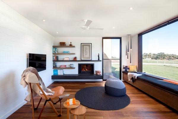 Cheminees Philippe Radiante 700 - Pleysier Perkins Architects, Prebuilt, Photographer: Hilary Bradford