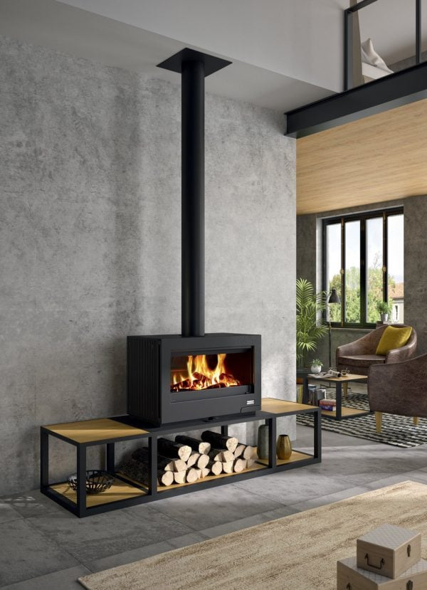 Contemporary Wood Fireplaces